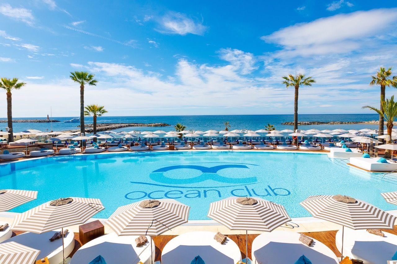 European beach clubs Ocean Club Marbella Spain
