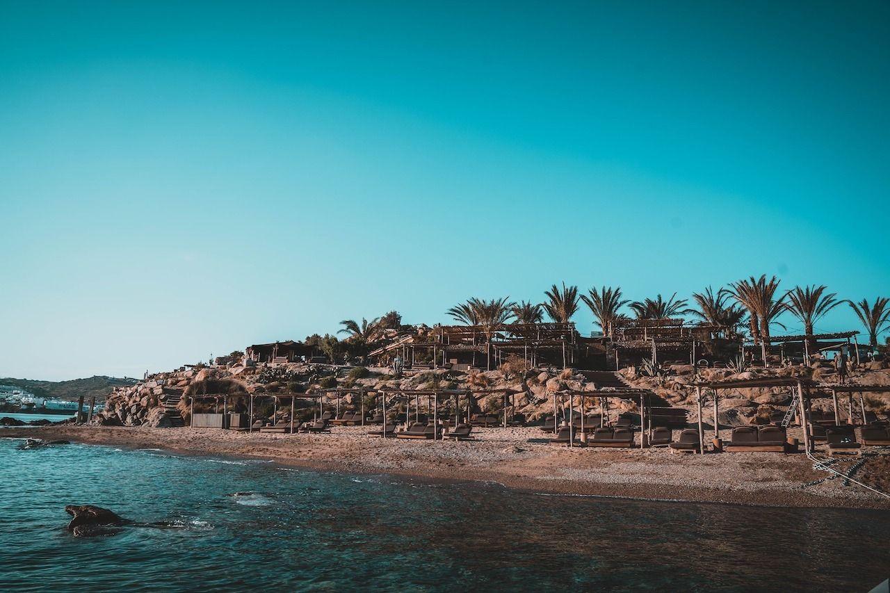 European beach clubs Scorpios Mykonos