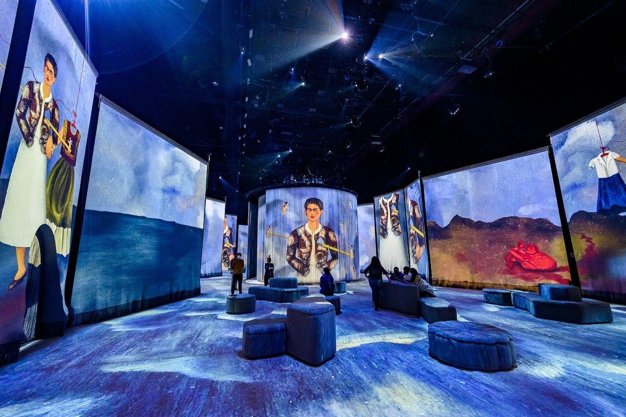 Frida- La Experiencia-Inmersiva-exhibition-light-display