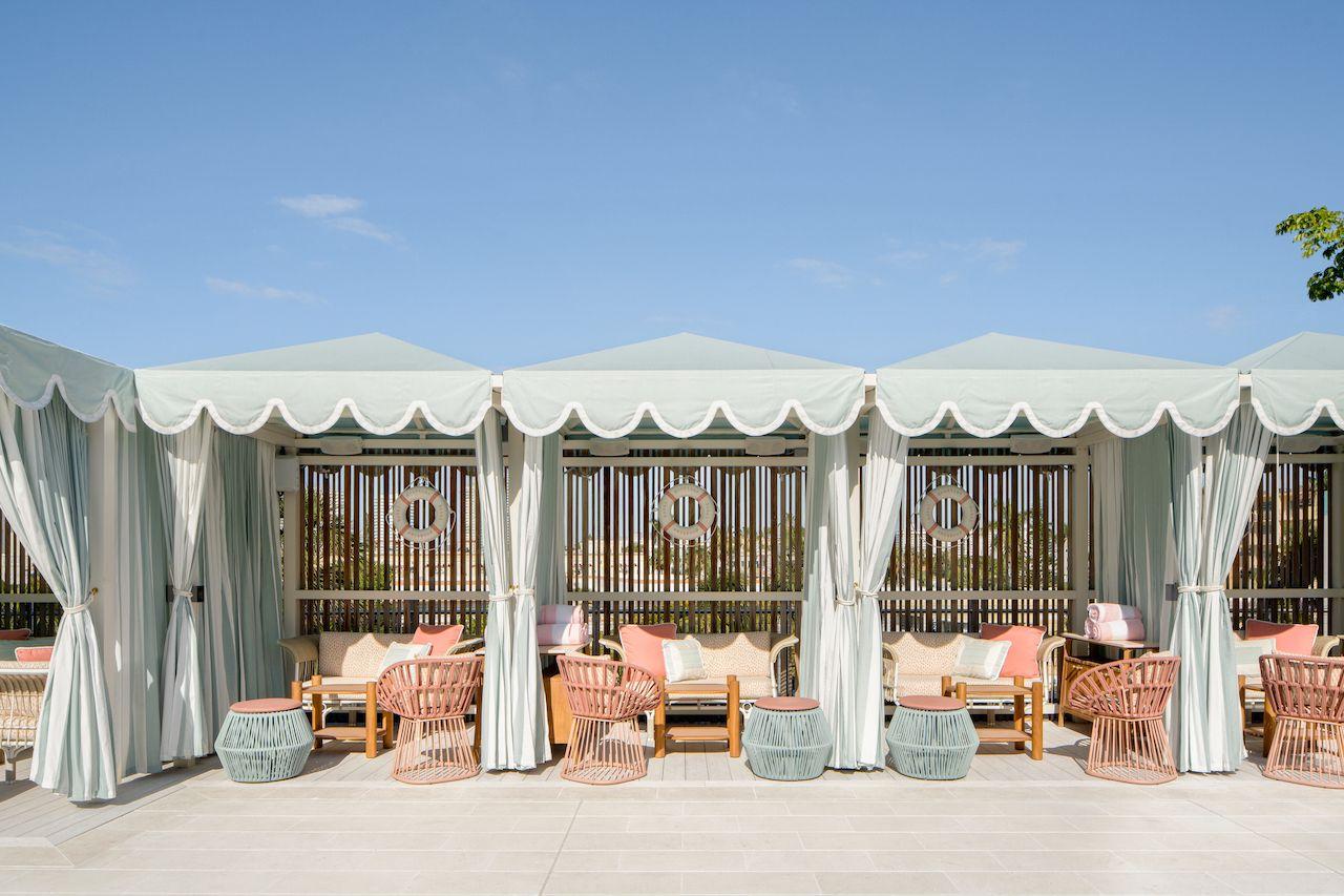 Goodtime-Hotel-cabana-Strawberry-Moon, Goodtime Hotel
