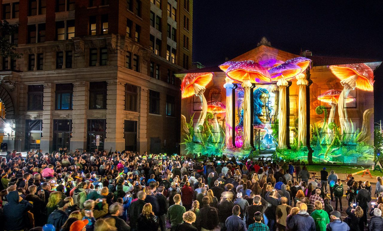 A trippy light festival will turn this city in upstate New York into an outdoor art gallery