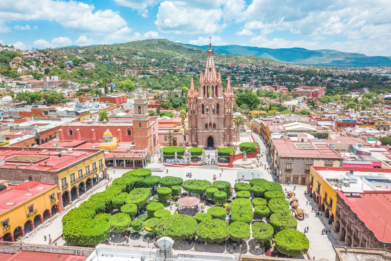 Beautiful,Aerial,View,Of,The,Main,Square,Of,San,Miguel