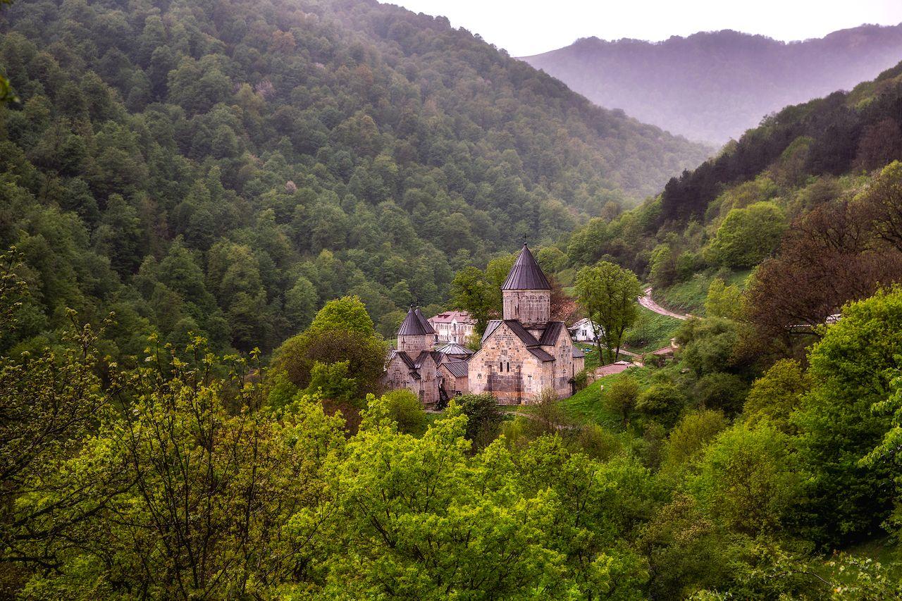 Haghartsin monastery near Dilijan, Armenia, Transcaucasian Trail
