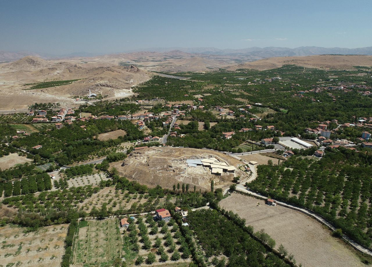 Overview of Arslantepe mound in the Orduzu plain