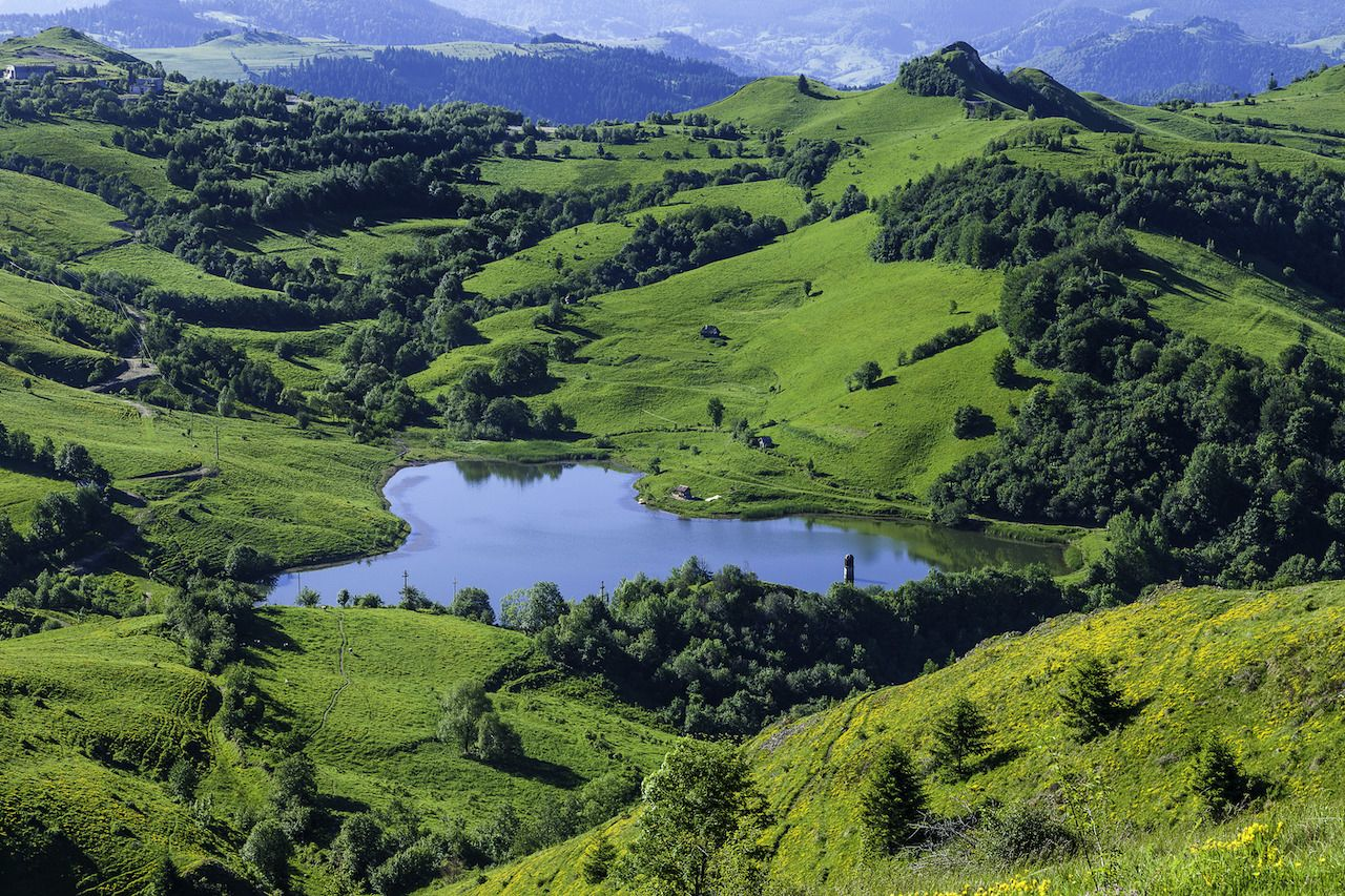 Roșia Montană Mining Landscape, Romania