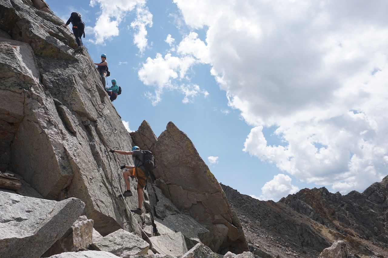 climbing, Arapahoe Basin via ferrata