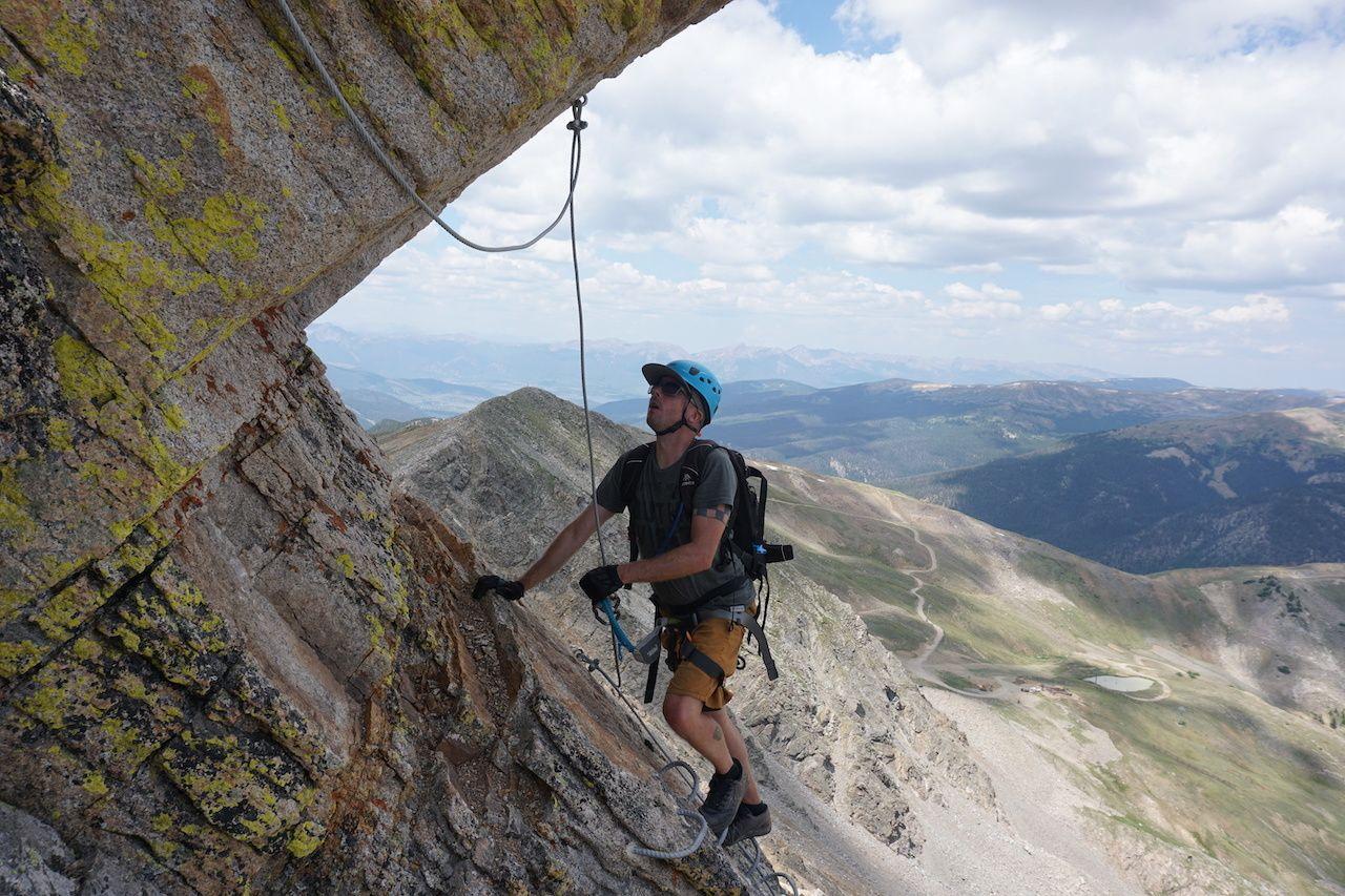 climber hold, Arapahoe Basin via ferrata
