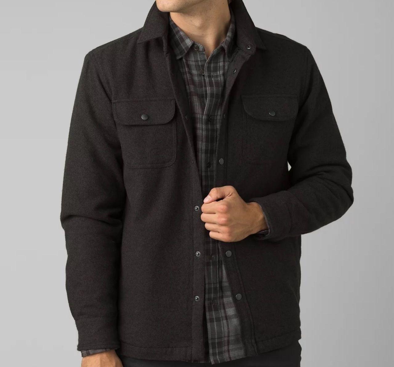 comfortable travel clothes Men prAna dock jacket