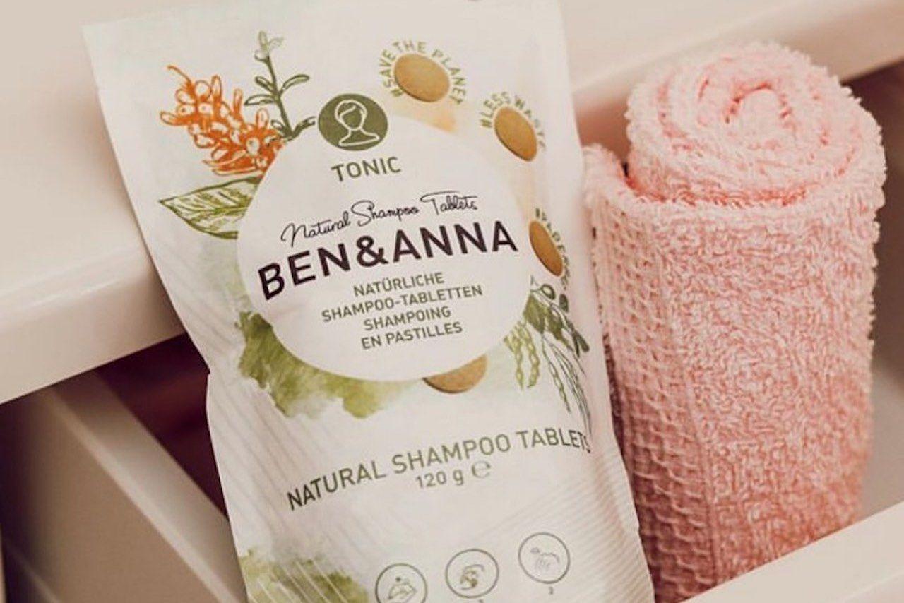 eco friendly toiletries ben and anna shampoo tablets