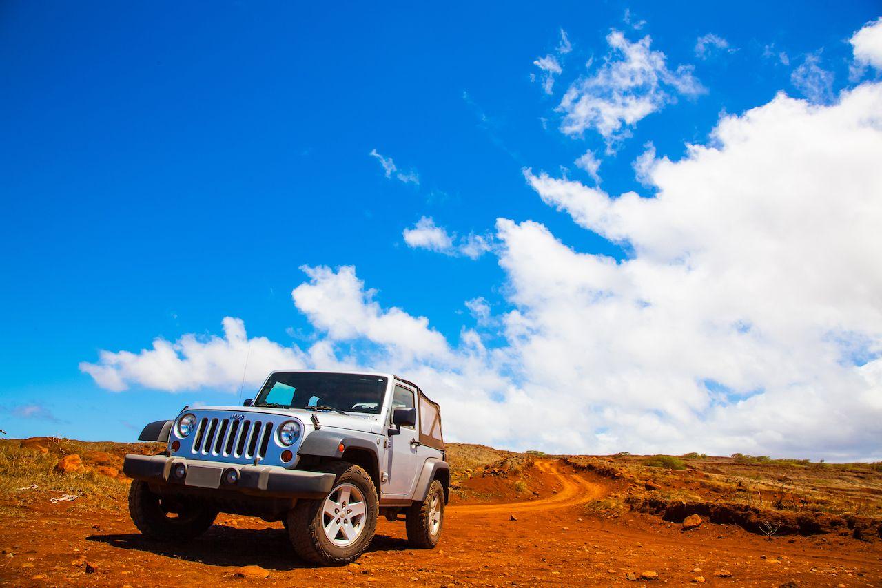 Lanai, HW - September 2, 2013 - Offroading through the Garden of the Gods in a Jeep Wrangler, Lanai by Jeep