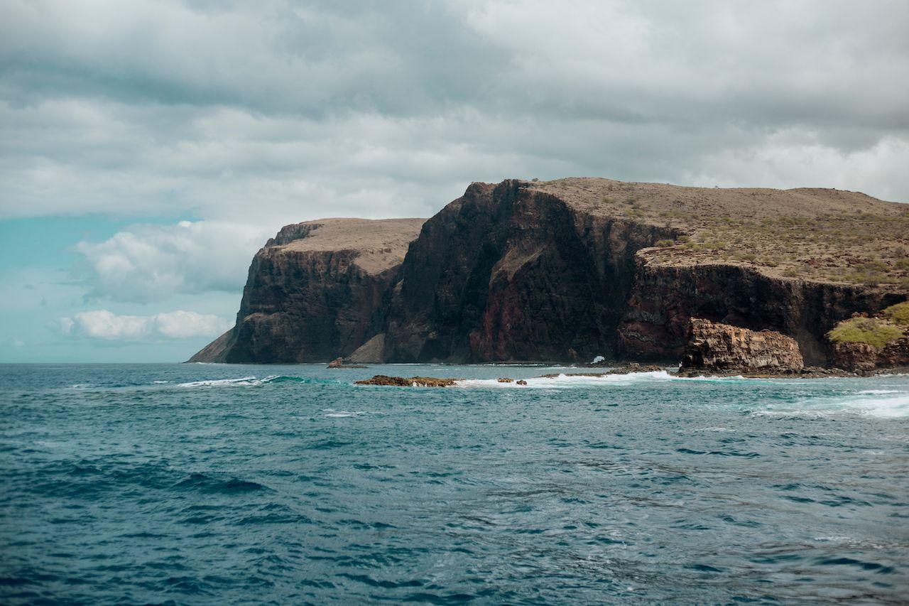 Palaoa Point, Kaunolu Bay at Lanai Island, Hawaii, Lanai by Jeep