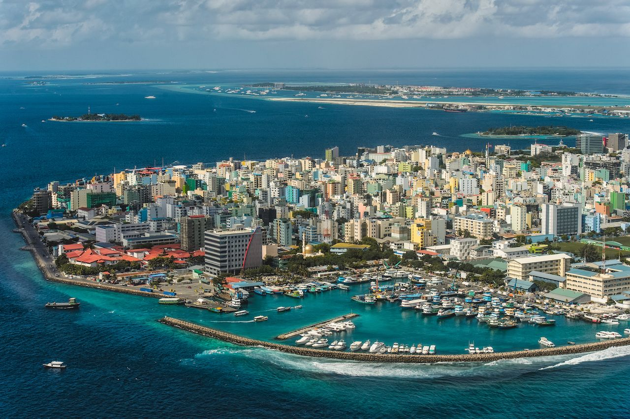 Maldivian,Capital,From,Above