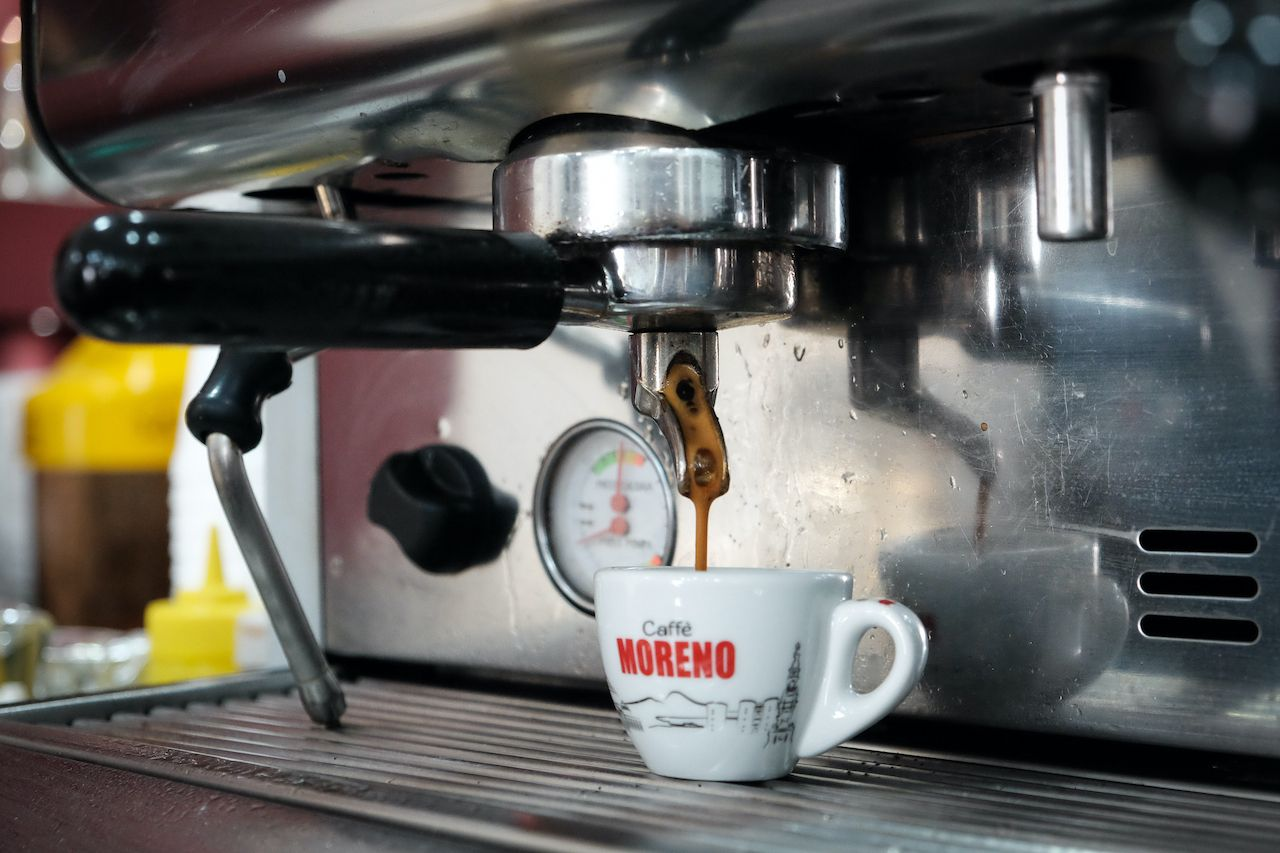 A,Cup,Of,Coffee,In,An,Italian,Bar,In,Naples