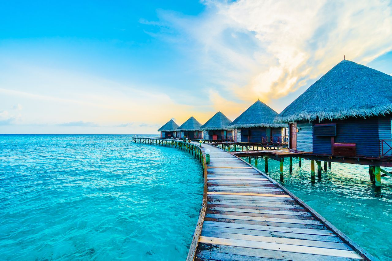 Beautiful,Tropical,Maldives,Resort,Hotel,And,Island,With,Beach,And