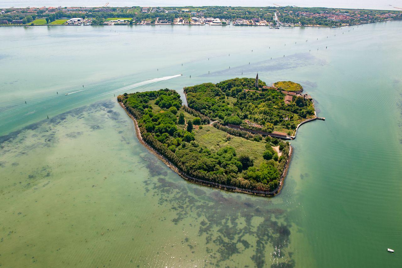 Aerial,View,Of,The,Island,Of,Poveglia,In,The,Venetian