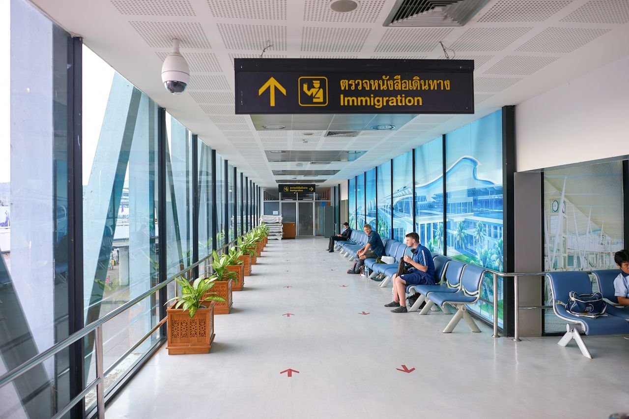 PHUKET, THAILAND - 07 NOVEMBER, 2015: inside Phuket International Airport. Phuket International Airport is an international airport serving Phuket Province of Thailand., sandbox program