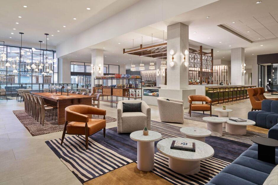 sheraton denver downtown review lobby
