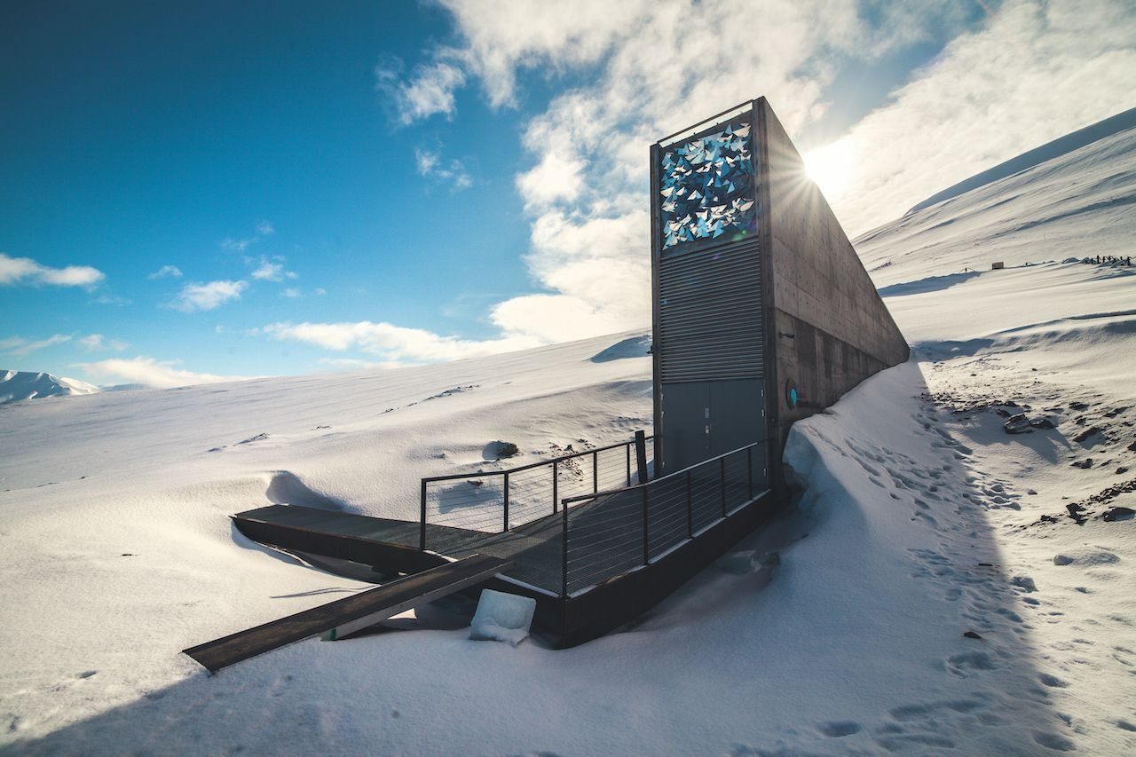 The,Seed,Vault,In,The,Arctic,Province,Of,Norway,,Svalbard.