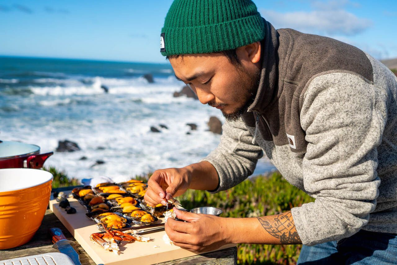 Taku Kondo is here to help you forage your own fresh coastal food