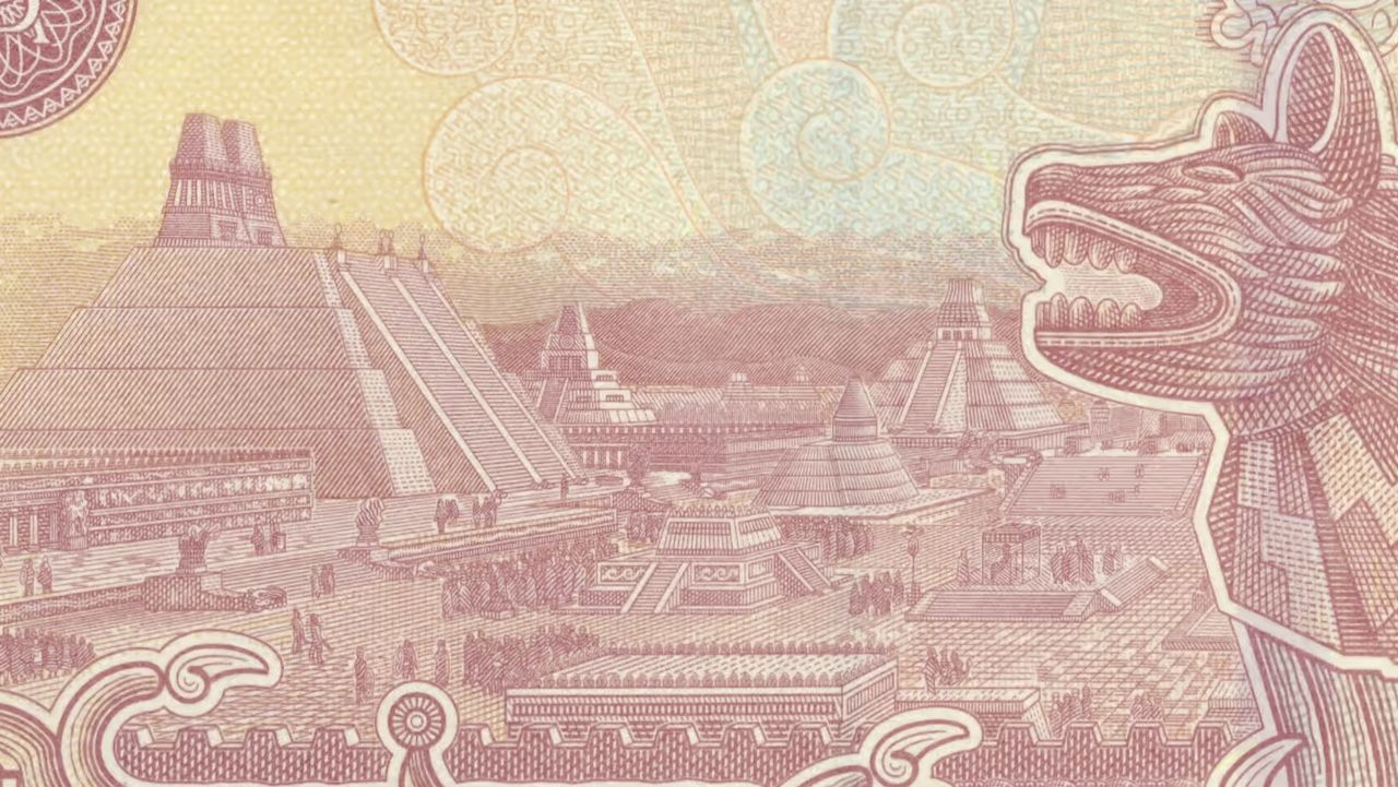 Iconic landmark appearing on a banknote