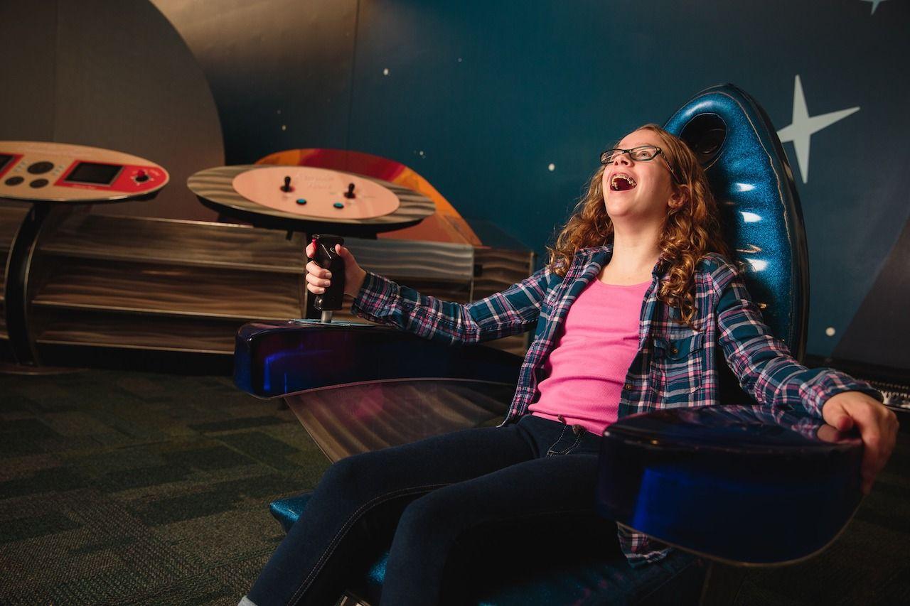 Space simulator at COSI in Columbus Ohio