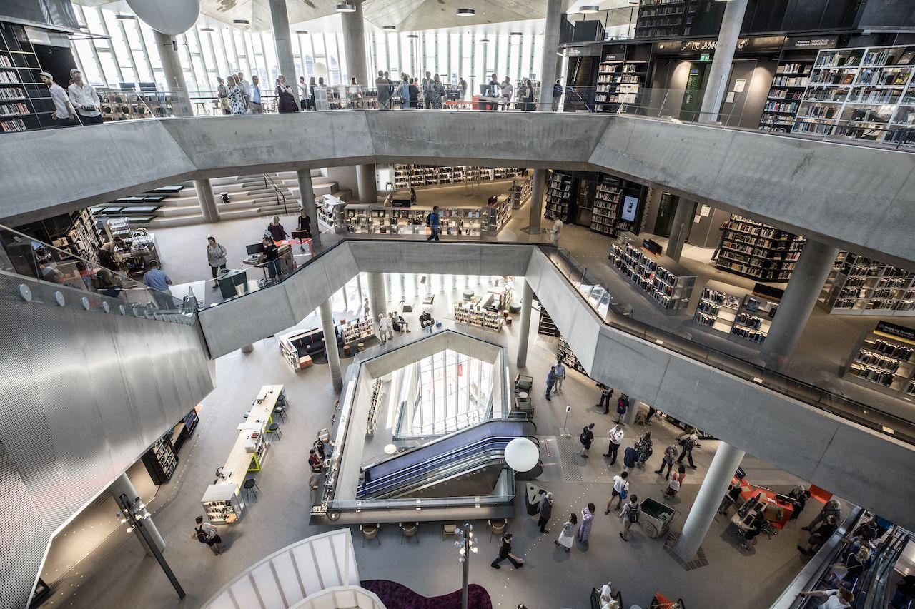 Interior of Deichman Bjørvik, the best library in the world in 2021