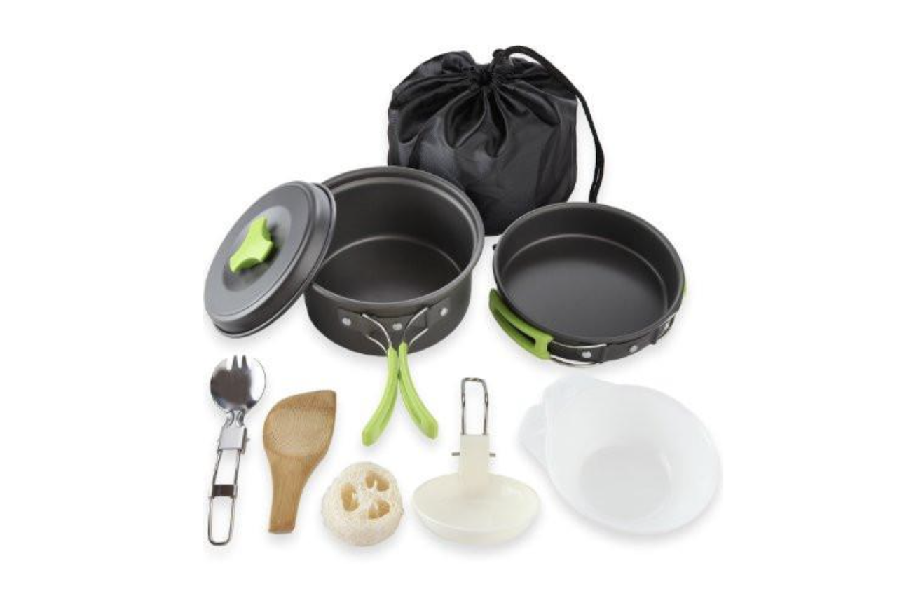 Fall Camping Gear MalloMe Cookware Mess Kit