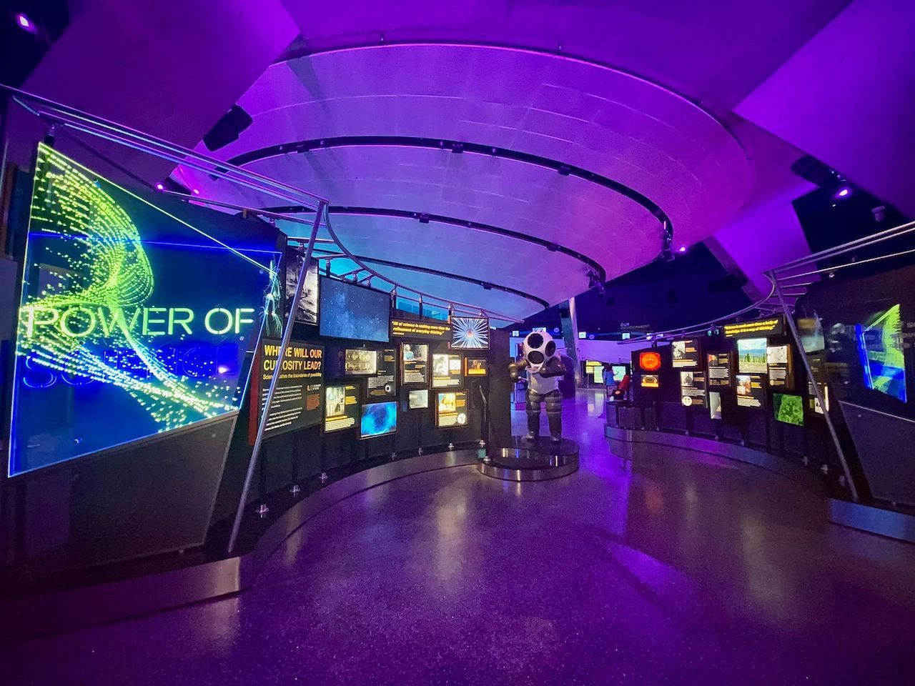 Power of science exhibit at the Frost Museum of Science