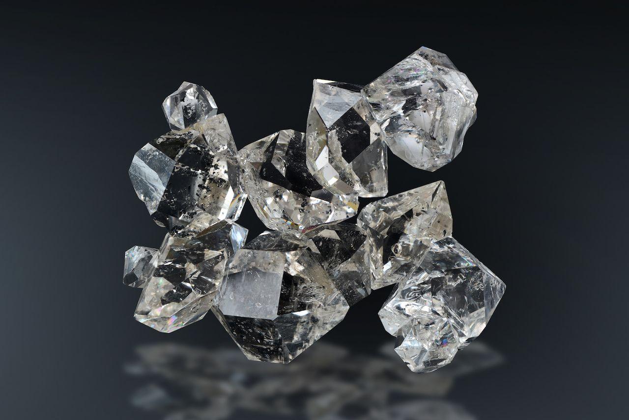 Quartz variety herkimer diamond from Herkimer County, New York.