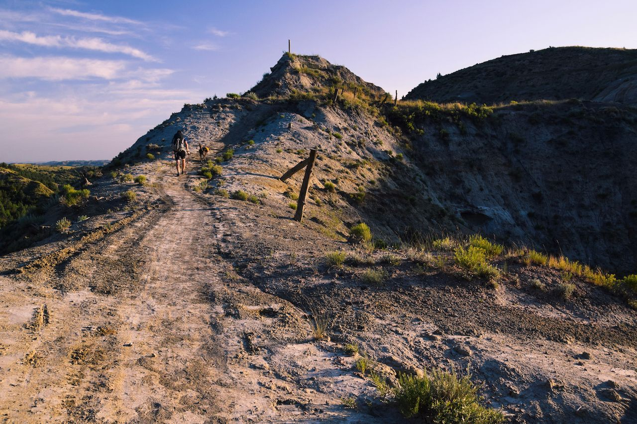 Hard hikes flat states North Dakota