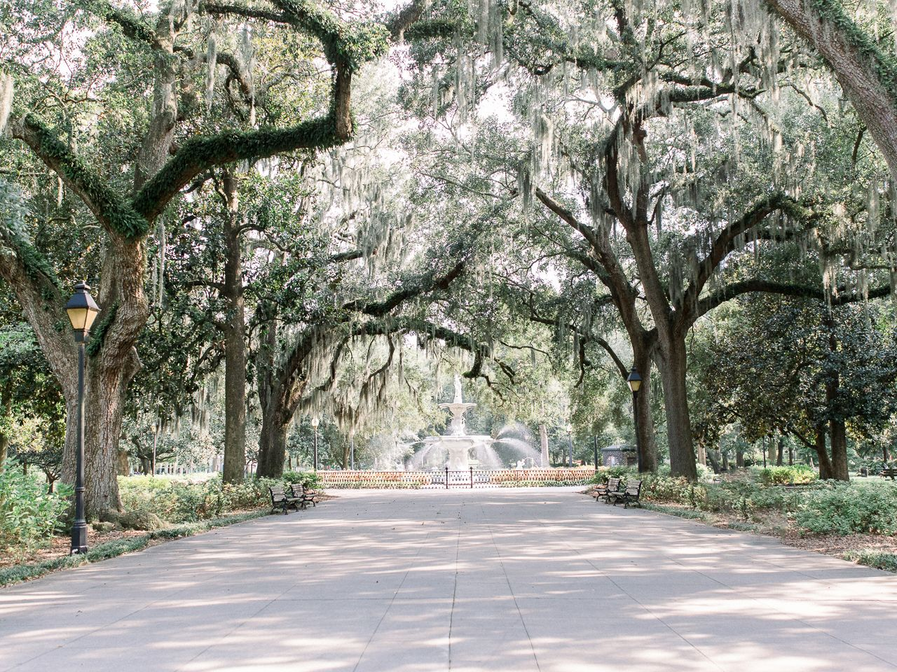 Historic Sites Savannah Forsyth Park Fountain