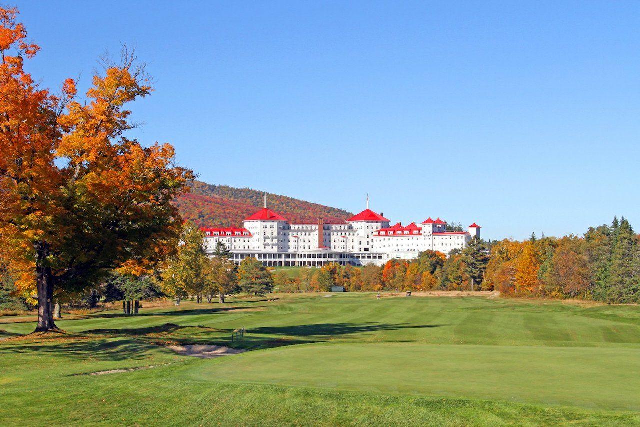 Omini Mount Washington Resort in the fall
