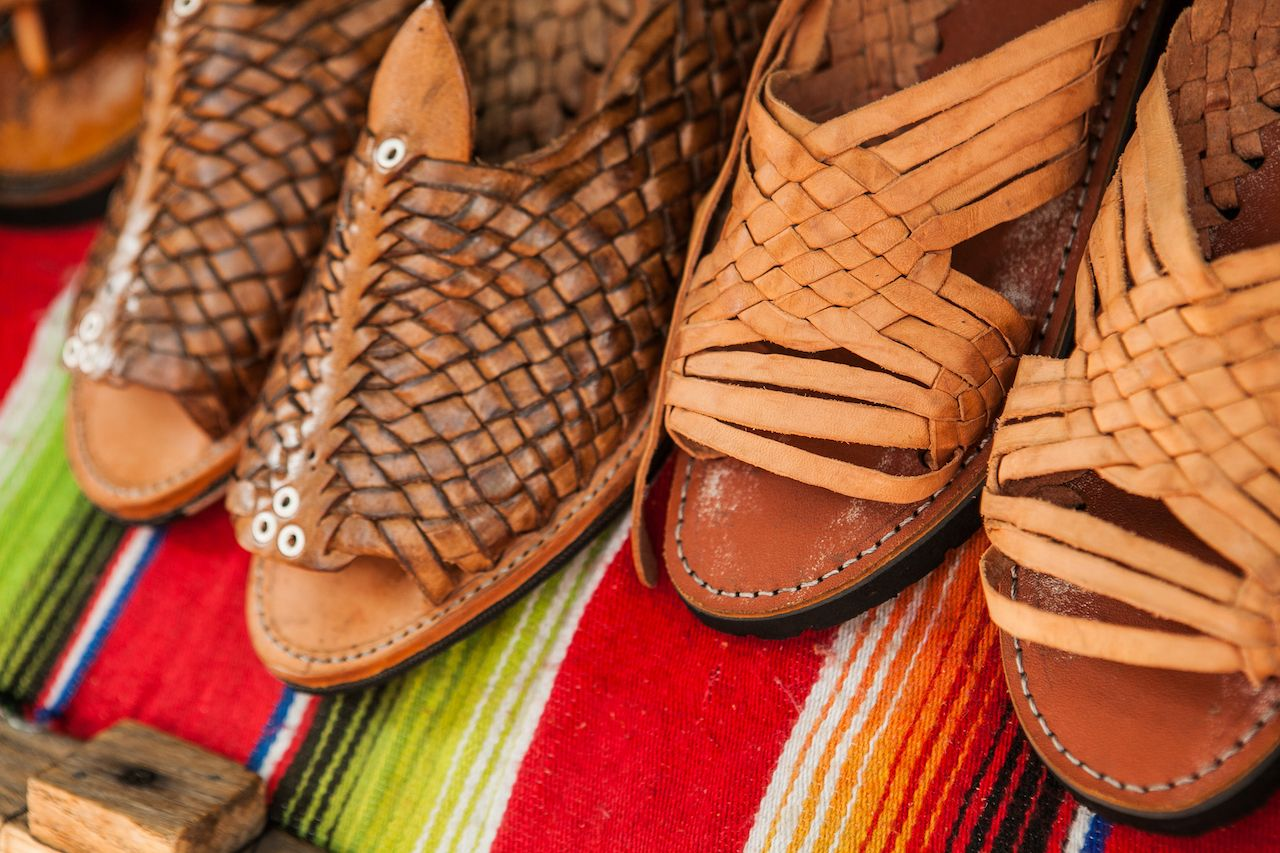 Huaraches leather shoes mexico