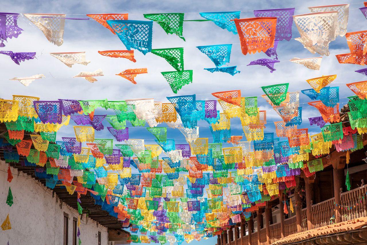 papel de picado is a paper craft from Mexico