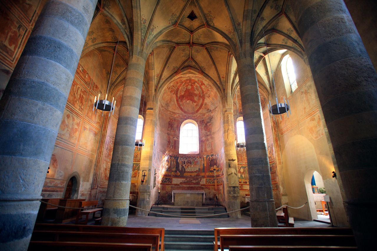 UNESCO-listed Benedictine Convent of St. John at Müstair in Switzerland