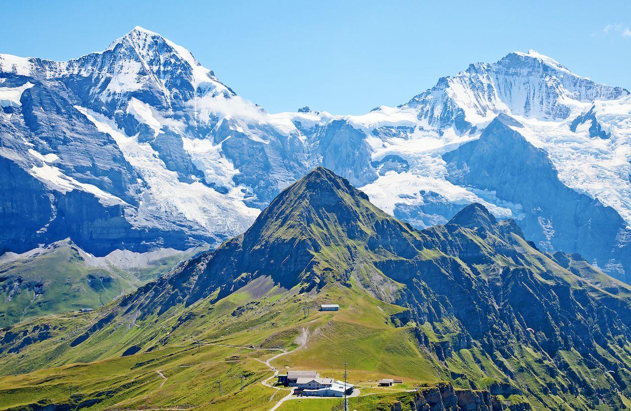 UNESCO-listed Swiss Alps Jungfrau-Aletsch in Switzerland