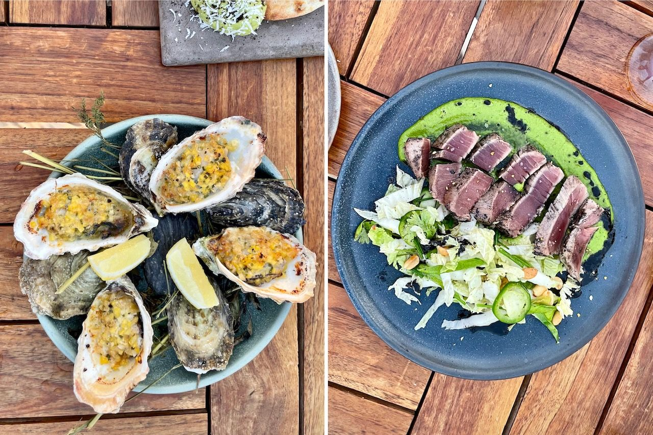 agave handcrafted kitchen oysters and tuna