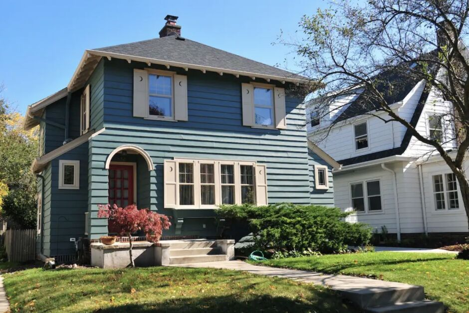 american four square house luxurious milwaukee airbnbs