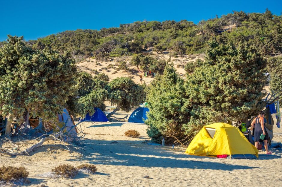 camping on gavdos europe's southernmost point