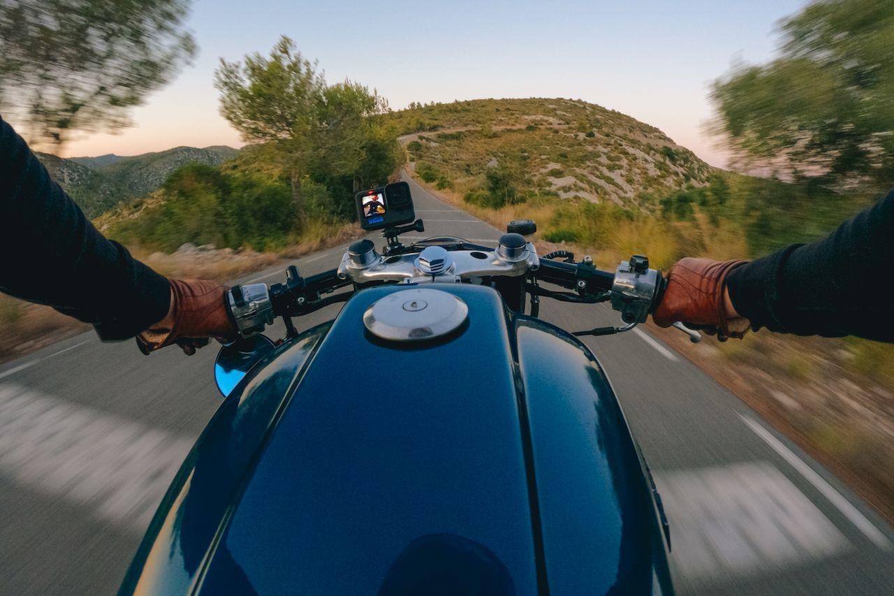 gopro hero10 black on a motorcycle