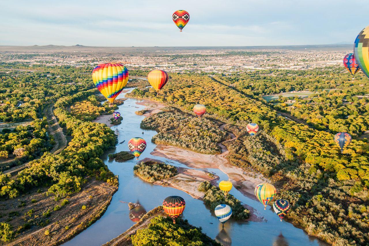 hot air balloon festival new mexico october 2021
