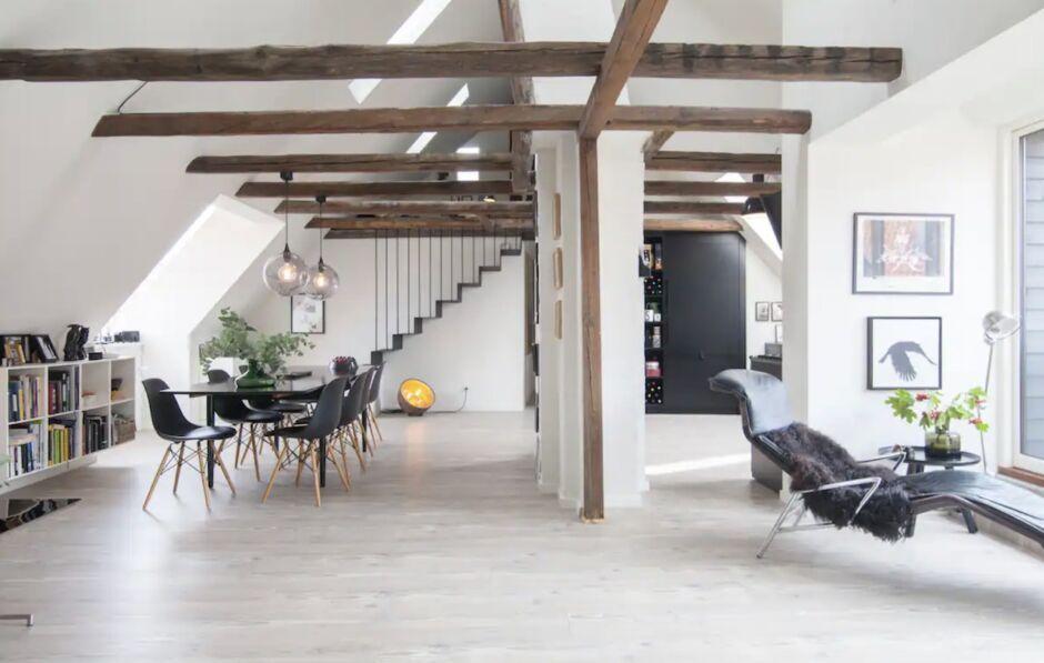light spacious loft trendy hygge copenhagen airbnbs