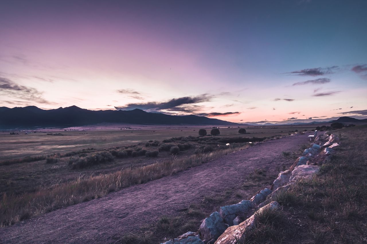 Dusk in the Wet Mountain Valley