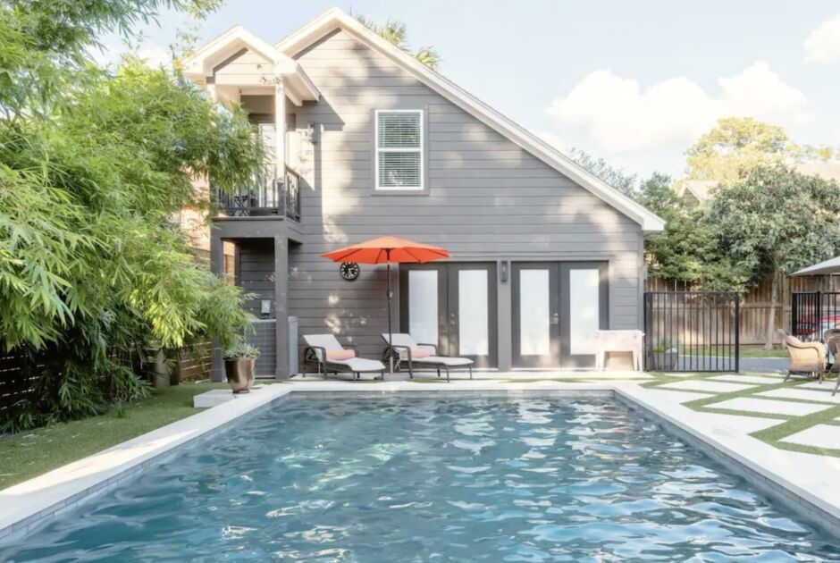 stylish home pool spa houston airbnbs
