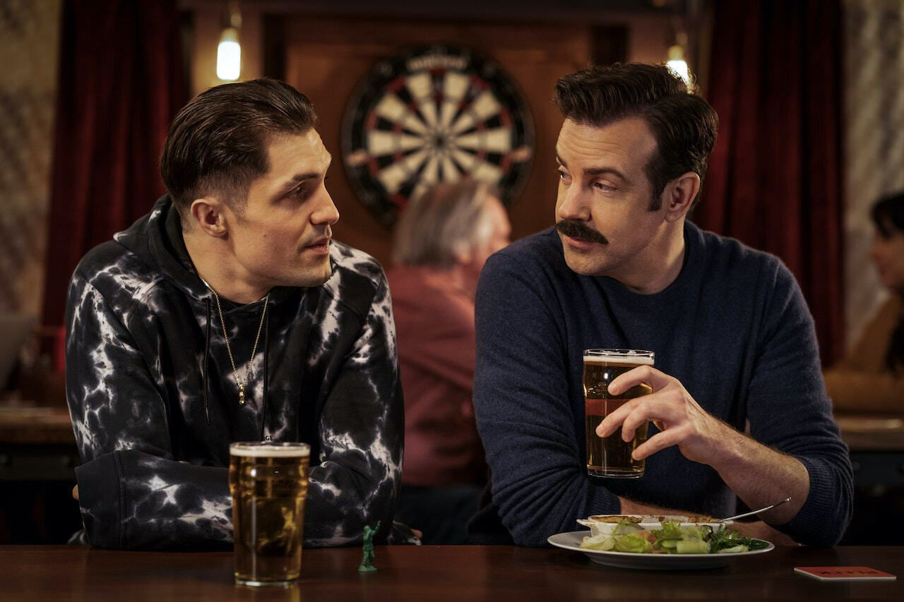 Ted Lasso and jaime in pub
