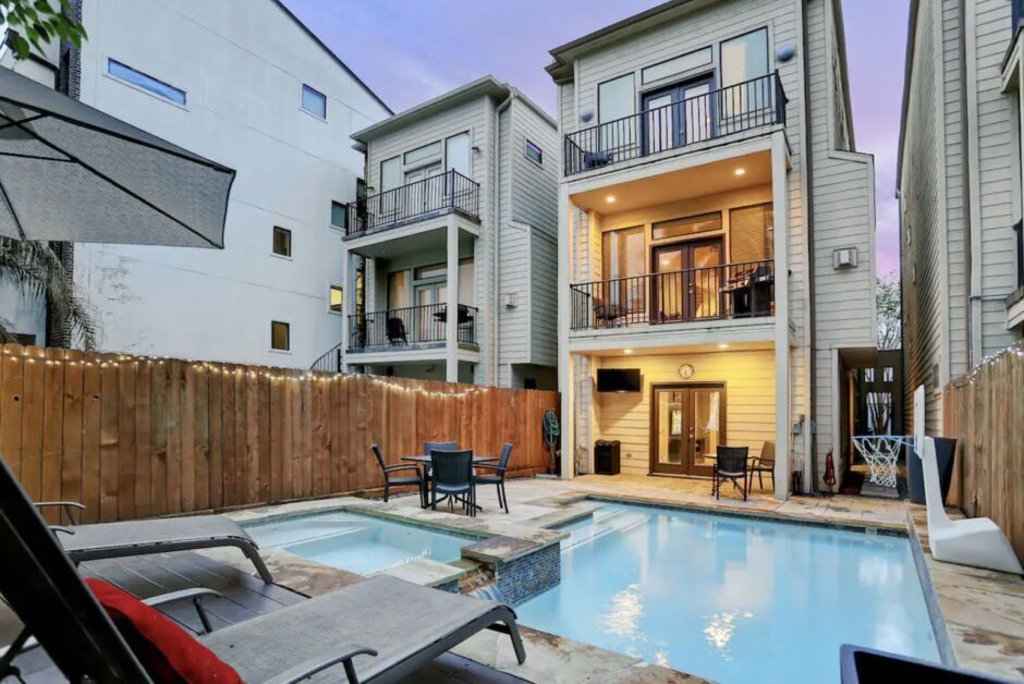 townhome with private pool houston airbnbs