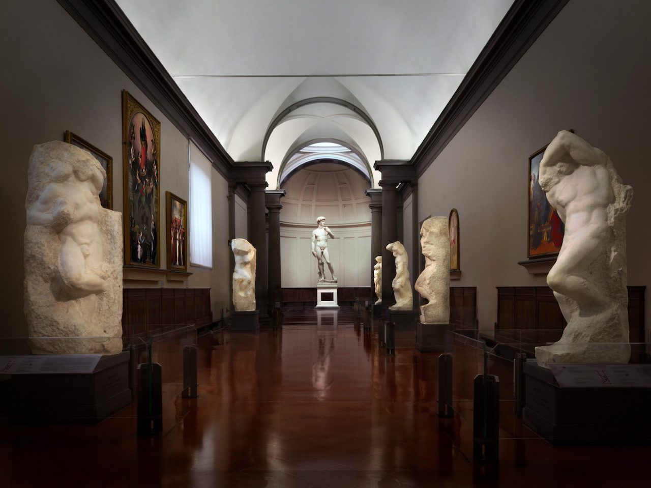 Statue of David currently on display in Florence