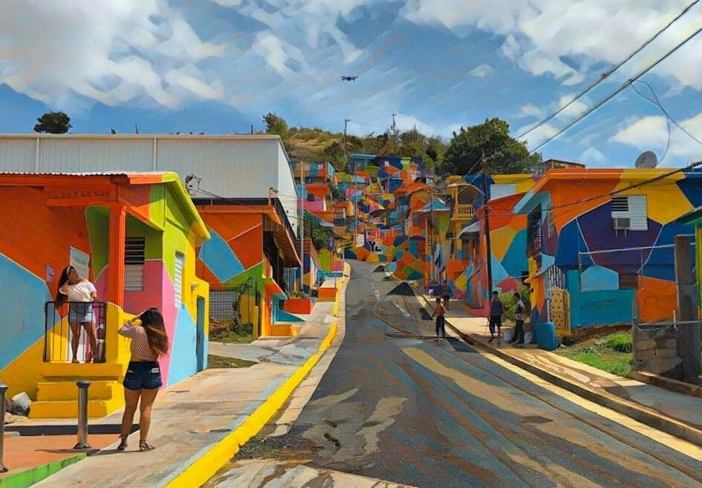 Street art in Puerto Rico in one colorful neighborhood