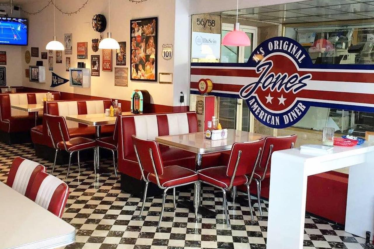 jones k original american diner themed restaurant