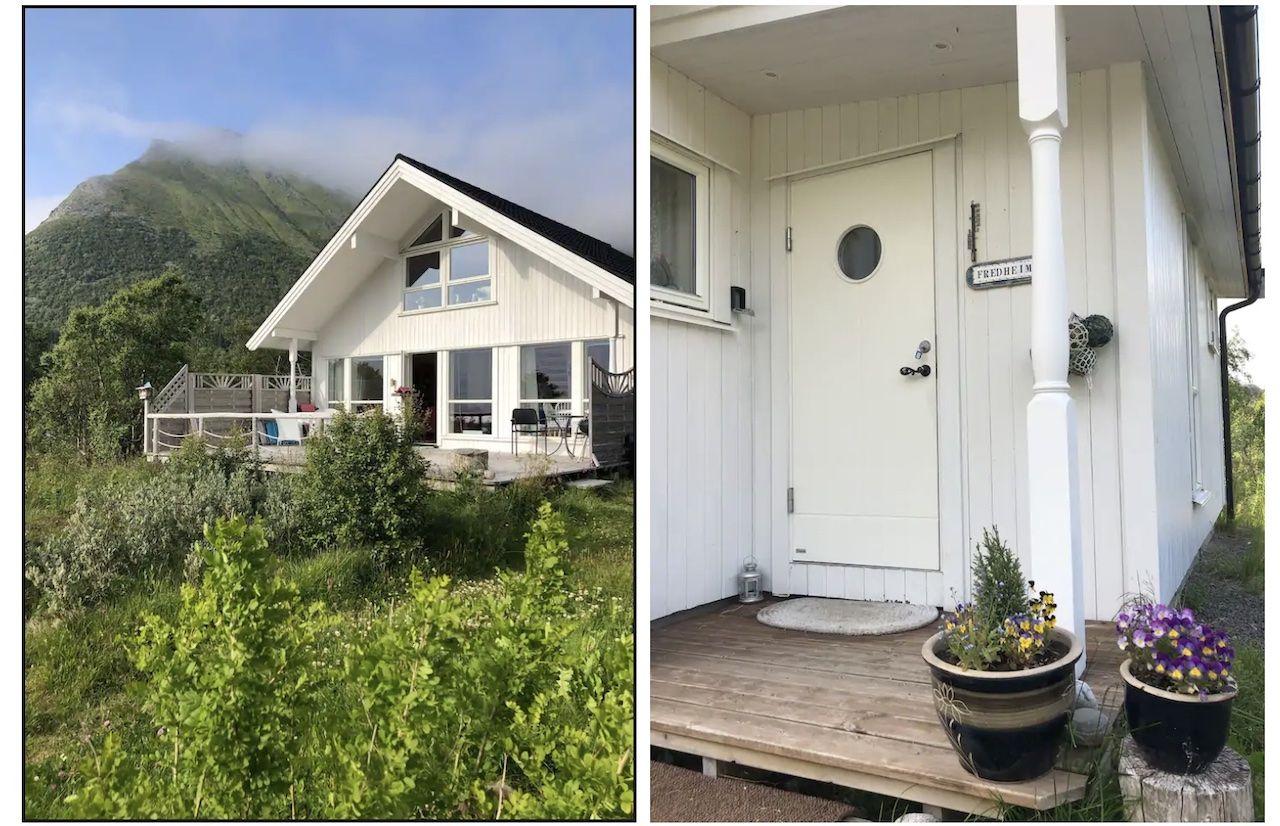 lofton airbnbs Austvagoy island seaside cabin